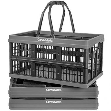 Collapsible Plastic Grocery Shopping Baskets
